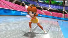 Speed Skating Daisy by on DeviantArt Super Mario 1985, Super Mario Run, New Super Mario Bros, Mario Bros., Mario Kart, Super Smash Bros, Mario Princess Daisy, Nintendo Princess, Princess Peach