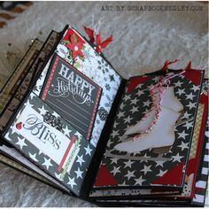 Christmas Paper Bag Mini Album Christmas Mini Albums, Christmas Paper, Christmas Scrapbook, Christmas Minis, Christmas Journal, Christmas Countdown, Christmas Cards, Paper Bag Books, Paper Bag Album