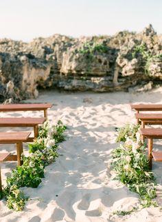 Organic beach wedding ceremony: http://www.stylemepretty.com/australia-weddings/2016/02/23/organic-seaside-australian-inspiration-shoot/ | Photography: Connie Whitlock - http://conniewhitlockphoto.com/