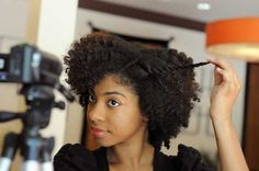 Maeling Tapp of Atlanta has a channel on YouTube in which she shows African-Americans how to groom and style their hair. Photo: Erik S. Lesser for The New York Times