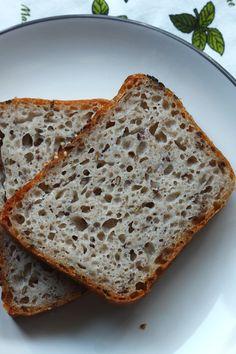Przepis na bezglutenowy chleb na drożdżach z siemieniem lnianym 200 Calories, Banana Bread, Noodles, Recipes, Kitchen, Allergies, Diet, Glutenfree, Brot