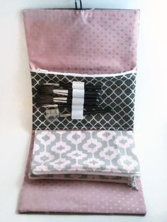 Makeup Bag Organizer | Costmetic Bag | Zipper Pouch | Pink Scottie