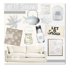 """Let IT Snow!"" by kusja ❤ liked on Polyvore featuring interior, interiors, interior design, home, home decor, interior decorating, Crate and Barrel, Susquehanna Glass, Zara Home and Wedgwood"