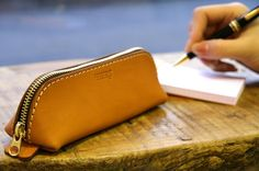 Rakuten: Vegetable tanning leather pen case made by japanese craftman[sokunou]【fs01gm】- Shopping Japanese products from Japan