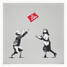 BANKSY - NO BALL GAMES (GREY) - VERSO CONTEMPORARY ART http://www.widewalls.ch/artwork/banksy/no-ball-games-grey/