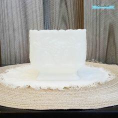Elegant Vintage Milkglass Square Pedestal by AnastasiaVintageHome