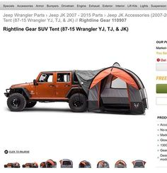 LOVE HOW THIS JEEP TENT IS UNIQUE
