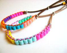 Colorblock Perler Beads Friendship Bracelets, Colorful Bracelets for Girls, Pastel Bracelets Perler Beads, Perler Bead Art, Fuse Beads, Hama Beads Patterns, Beading Patterns, Beaded Jewelry, Beaded Bracelets, Diy Bracelet, Jewellery