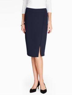 Crepe Pencil Skirt - Talbots