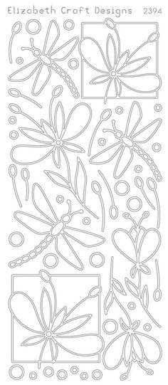 Elizabeth Craft Designs Peel-off Stickers Dragonfly