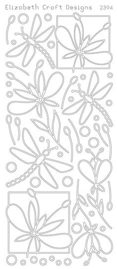 Elizabeth Craft Designs Peel-off Stickers Dragonfly
