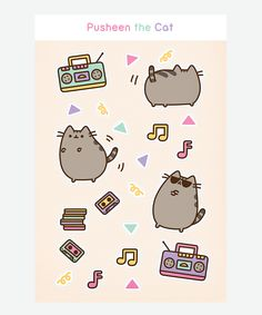 Pusheen the Cat Dance Party Sticker Sheet