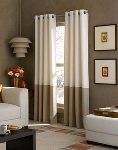 6 Irresistible Hacks: Brown Blinds Living Room roll up blinds outdoor.Modern Blinds Awesome blinds for windows privacy.Blinds For Windows Roman. Bedroom Blinds, Home Curtains, Curtains Living, Lined Curtains, Grommet Curtains, Window Curtains, Striped Curtains, Drapery Panels, Tall Curtains