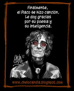 ( Luis Alberto Spinetta by chelocandia.blogspot.com.ar ) Soda Stereo, Rock And Roll, Batman, Tattoos, Metal, Movie Posters, Photos, Ideas, Portrait