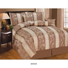 7-Piece Set: Lizet Jacquard Comforter Collection - Assorted Colors