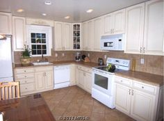 Off White Kitchen Cabinets | Open kitchen - off white cabinets