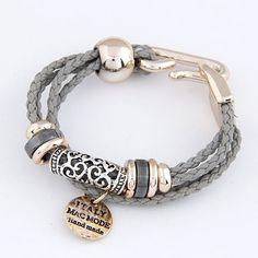 Aliexpress.com: Comprar Pulseras para para cuero cuerda pulseras del encanto y brazaletes Bijoux joyas Circular Pulseira Feminina Pulsera Mujer Femme de pulsera de la joyería fiable proveedores en Kou Kou Jewelry