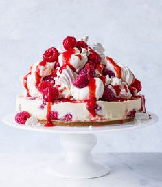 Try our summery raspberry cheesecake recipe. Eton mess is a classic British summer dessert, and we've combined it with a cheesecake to make an easy summer pudding