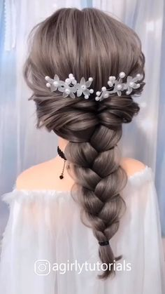 Beautiful Unique Hairstyle for Long Hair Part 8 – Diy Hairstyles Easy Hairstyles For Long Hair, Braids For Long Hair, Unique Hairstyles, Bride Hairstyles, Easy Elegant Hairstyles, Braids Easy, Hair Up Styles, Medium Hair Styles, Long Hair Video