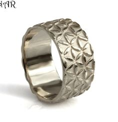 Hey, I found this really awesome Etsy listing at https://www.etsy.com/il-en/listing/225553990/14k-wide-white-gold-band-mens-wedding