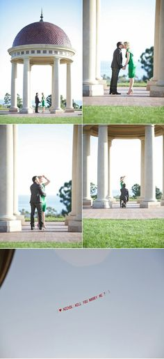 Too cute! Surprise Proposal in the Sky