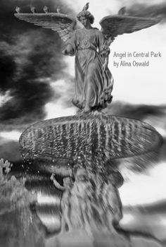 """""""Angel in Central Park"""" B&W Lensbaby Photography by Alina Oswald. Inspired by Angels in America and the fight to end AIDS, """"Angels in America"""" has found a permanent home in the National AIDS Museum. www.aidsmuseum.org"""