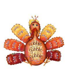 """Look what I found on #zulily! """"Gobble, Gobble"""" Turkey Figurine #zulilyfinds"""