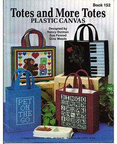 Totes and More Totes  Plastic Canvas Pattern by grammysyarngarden, $5.00