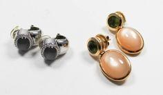 Kredit ohne Schufa - Ohrringe in Gelbgold und Weissgold mit bunten Steinen  https://www.ipfand.de/kredit-ohne-schufa  #KreditOhneSchufa #iPfand #Leihhaus #Ohrringe