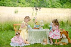 A teddy bear tea party