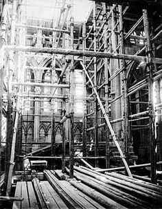 TRURO CATHEDRAL (May 1883) | Cornwall: Interior, under construction ✫ღ⊰n
