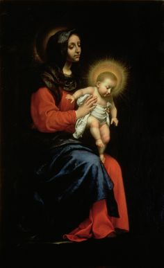 Madonna und Kind von Carlo Dolci als Kunstdruck ( Hail Holy Queen, Baroque Painting, Images Of Mary, Christian Artwork, Queen Of Heaven, Mary And Jesus, Holy Mary, Madonna And Child, Blessed Virgin Mary