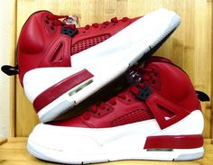75abf3565 New Air Jordan Spizike GS 317321-603 Size 7y Women s 9 White Gym Red Big