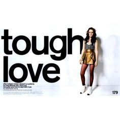 Nylon Editorial Tough Love, March 2009 ❤ liked on Polyvore