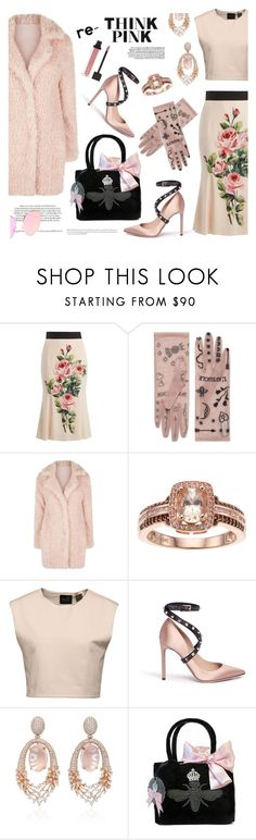 """""""Re-Think Pink - Pink Outfit"""" by esch103 ❤ liked on Polyvore featuring Dolce&Gabbana, Gucci, Puma, Valentino, Hueb, My Flat In London, Disney, Pink, thinkpink and contestentry"""
