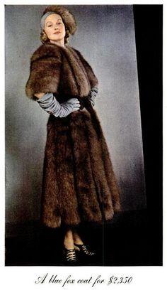1937 Vintage #Fur - Blue #Fox http://www.rosendorfevansfurs.com/