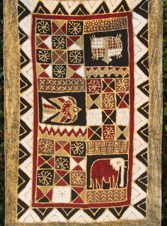 African Batik Zimbabwe 37 X 60  Elephant by AfricanArtHomeDecor, $75.00