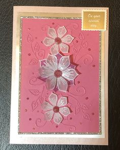 Finger card with vellum flowers using Stamps by Chloe Stamps By Chloe, Card Crafts, Special Day, Craft Projects, Finger, Sapphire, Flowers, Cards, Fingers