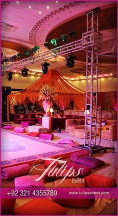The colorful delights mehendi setup pakistani mehendi for Indoor marquee decoration