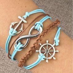 infinity bracelet #infitinitysign #bracelets I like the color combination