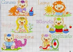 Punto the Cruz 🐻🐻 Animals Cross Stitch Baby, Baby Quilts, Applique, Bullet Journal, Kids Rugs, Embroidery, K2, Safari, Album