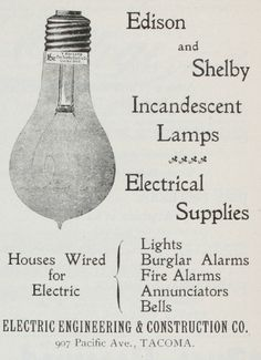 Edison and Shelby Light Bulbs (1899)