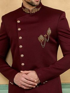 African Wear Styles For Men, African Shirts For Men, African Dresses Men, African Clothing For Men, African Style, Sherwani For Men Wedding, Wedding Dresses Men Indian, Wedding Dress Men, Sherwani Groom