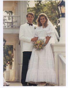 1980s Wedding Dress, Wedding Dresses, Vintage Wedding Photos, Wedding Linens, Bridal Style, Wedding Styles, Marie, White Dress, Joy