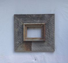 4x6 Natural wooden picture frame. . Rustic. by ShopSweetlySalvaged, $48.00
