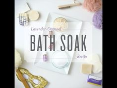 Easy relaxing lavender oatmeal bath salts recipe. Great detox bath for sore muscles, relaxing and relieving stress!