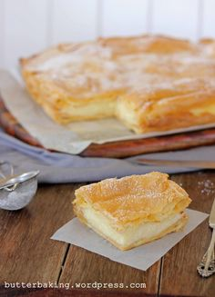 Karpatka ~ Polish Vanilla Slice | Butter Baking... (Polish version of millefeuille - uses choux pastry rather than puff pastry)