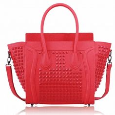 This great handbag has been made from faux leather and has studded detailing to really make it stand out from the crowd. Its unique colour sets it apart and there is little doubt over this bags beauty.
