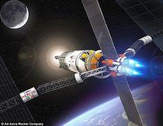 Solar Express 2 Günde Mars'a Gidecek  Kanadalı mühendis Charles Bombardier 2 günde Mars'a gidecek uzay treni tasarladı. Dünya yörüngesinden roketlerle ayrılan #SolarExpress lazer ışınlarından yararlanarak ışık hızının yüzde 1'ine ulaşacak. Saniyede 3000 km hızla giden uzay treni Dünya ile gezegenler arasında mekik dokuyacak.