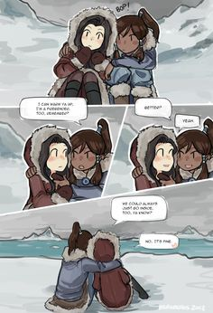 AU where Korra and Asami knew eachother while Korra was still training at the compoud (they're maybe like 13-14 here??) Part 2 of 2